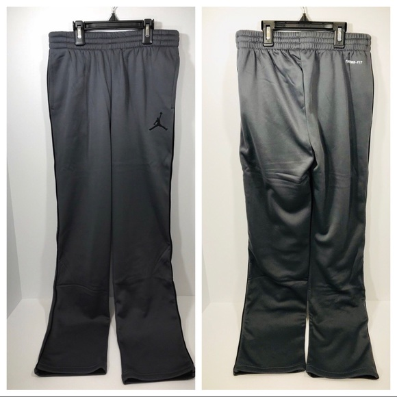 6f8a8e91949832 Jordan Jumpman Grey Sweatpants Pockets Kids Large